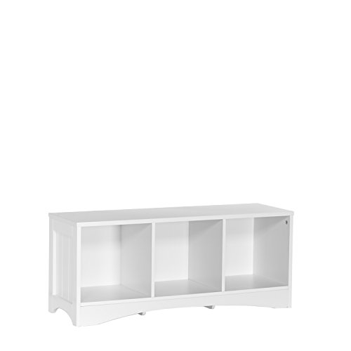 RiverRidge 02-023 Bench with 3 Cubbies for Kids, White by RiverRidge