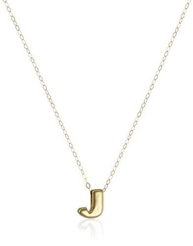 Yellow Gold Small Initial Pendant - 10k Yellow Gold Polished Small Initial