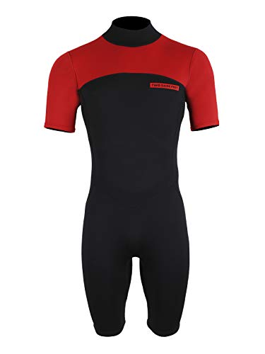 Two Bare Feet Mens Thunderclap 2.5mm Summer Shorty Neoprene Wetsuit for Surf/Swimming/Watersports