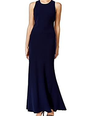 Twilight Womens Sheath Cutout Gown Dress Blue 10