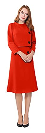 Vintage Inspired Cocktail Dresses, Party Dresses Marycrafts Womens Elegant Dress Work Office Lined Tea Midi Dress $39.90 AT vintagedancer.com