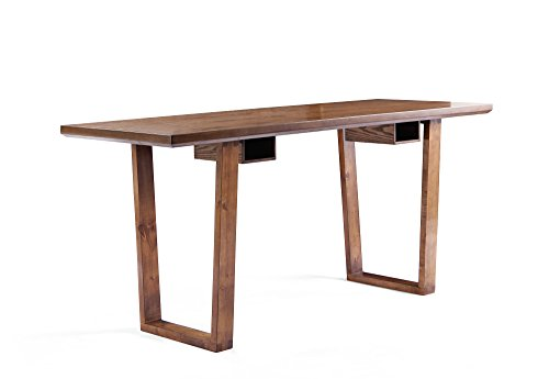 Haven Home 6008-028 Aiden Wood Writing Computer Desk Modern Style Simple Sleek Table for Home Office, Oak