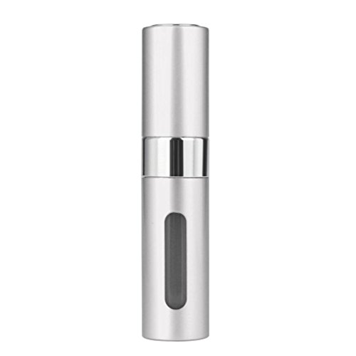 (Vanvler Mini Portable Travel Perfume Bottle Refillable Perfume Atomizer Bottle for Spray Scent Pump Case (8 ml /2/10cm, Silver))