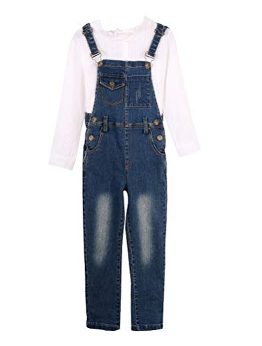 Girls Bib Overall - Mallimoda Boys Girls Denim Bib Overalls Jeans Jumpsuit Style 3 Denim 13-14 Years