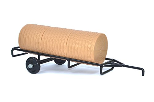 Hay Trailer - Little Buster Toys Hay Trailer - Round Bale Hay Trailer in, 1/16th Scale in Black