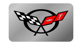 C5 Exhaust Enhancer Plate - C5 Flags (Stainless Steel)