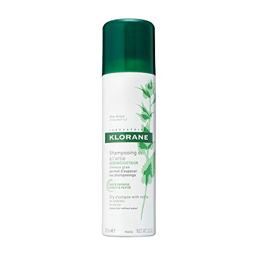 Clear Braid Brown - Klorane Dry Shampoo with Nettle for Oily Hair and Scalp, Regulates Oil Production, Paraben & Sulfate-Free
