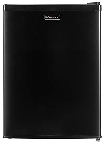 Emerson CR240BE 2.4 Cubic Foot Compact Single Door Refrigerator, Black