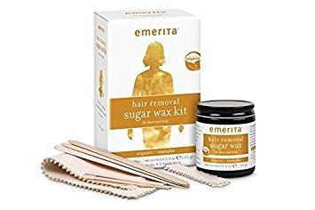 Emerita Hair Removal Sugar Wax Kit for Face and Body Organic 5 5 oz 155 g