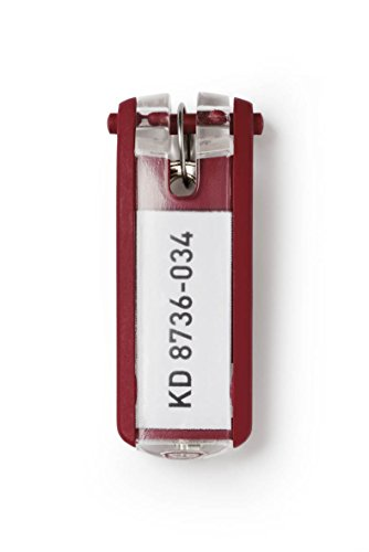 DURABLE Key Tags, Plastic, Red, 6-Pack (195703) Photo #3