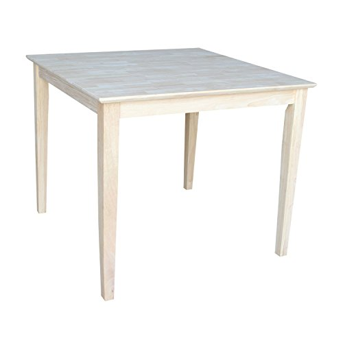 International Concepts Solid Wood Top Table with