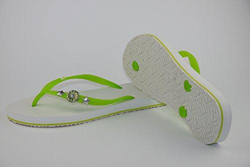 COVYS jandals green tea/white #5116 women (Zehentrenner, Sandale, DIY, Pins) green tea/white