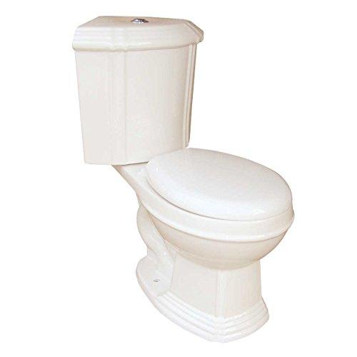 Bone China Round Space Saving Dual Flush Corner ()