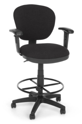 OFM 150-AA-DK-126 Lite Use Computer Task Stool with Arms and Drafting Kit (Use Lite Chair Drafting)