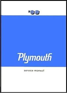 amazon com factory shop service manual for 1968 plymouth factory shop service manual for 1968 plymouth barracuda belvedere fury gtx