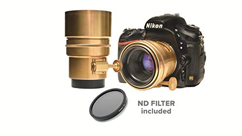 (Glide Gear Vintage Bokeh Brass Uncoated Petzval Lens 58mm Manual Focus Prime Lens f1.8 with Neutral Density Filter Included )