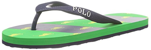 Polo Ralph Lauren Amino Stripe Jungen Zehentrenner Blau (navy rubber/ eva w green)