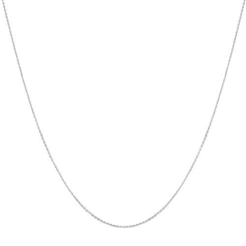 Platinum 950 Diamond-cut 1mm Cable Chain (18 (Womens Platinum 950)