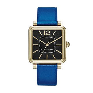 Marc Jacobs Women's Vic Blue Leather Watch - MJ1438