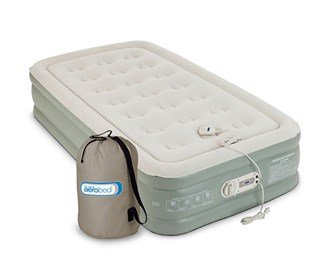 Aerobed Twin Size Antimicrobial Premier Double High With Built-In Pump by AeroBed