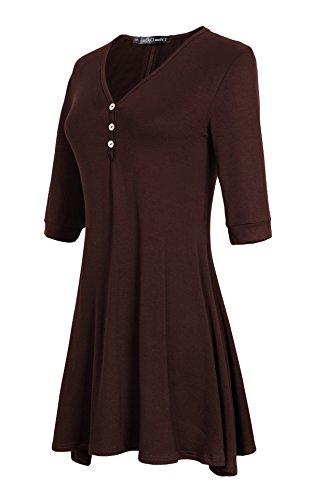 Coco Rum (Urban CoCo Women's Half Sleeve Casual Loose Tunic Tops Basic T Shirts (2XL, Rum Raisin))