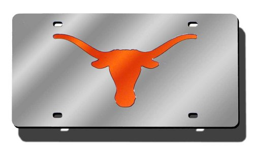 NCAA Texas Longhorns Laser Cut Auto Tag, - Malls Shopping Austin