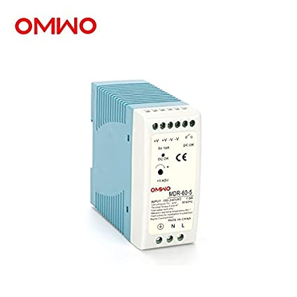 Output Voltage: MDR-60-48 48V1.3A, Power: 60W, Input Voltage: 85-264VAC Utini OMWO MDR-60-5 5V10A MDR-60-12 12V5A MDR-60-15 15V4A MDR-60-24 24V2.5A Single Output Industrial DIN Rail Power Supply