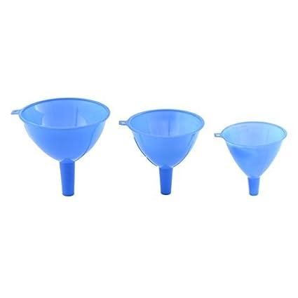 eDealMax plástico del hogar Utensilios de cocina Vino aceite líquido Agua embudo de filtro 3 en