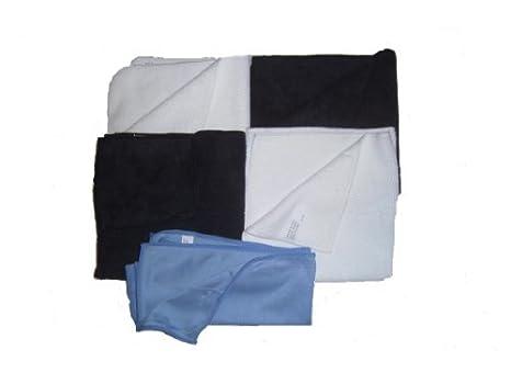 """5 unidades de microfibra Toallas – 2 Negro – 2 Color Blanco 16 """"x"""