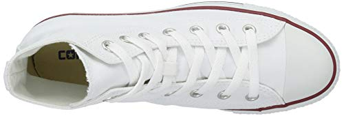 Chuck Taylor All Star Canvas High Top, Optical White, 4.5 M US by Converse (Image #8)