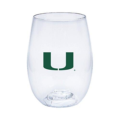 Miami Hurricanes Govino Shatterproof Wine Glasses - Boxed set of 4 Miami Glass