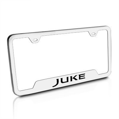 Nissan Juke Brushed Steel Auto License Plate Frame Au-Tomotive Gold INC