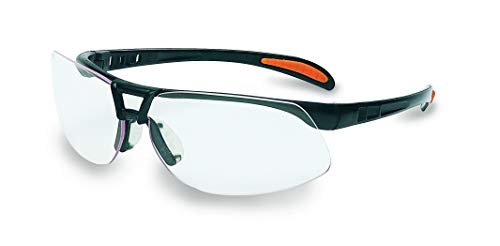 UVEX by Honeywell Protégé Safety Glasses, Metallic Black Frame with Clear Lens & Ultra-Dura Anti-Scratch Hardcoat (S4200)
