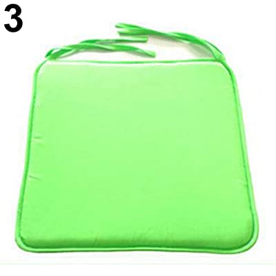 Maserfaliw Seat CushionRemovable Seat Pad Dining Garden Outdoor Patio Pillow Solid Tie On Chair Cushion - Green ¡ï Outdoor Sitting Room Seat Pad£¬Essential for Home Life. : Garden & Outdoor