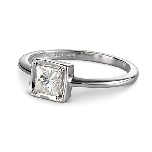 Forever Classic Square 4.5mm Moissanite Ring-size 6, 0.60ct DEW by Charles & -