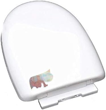 HZDXT 便座Uは、ホワイト、34.5を抗菌ABS肥厚トイレのふたをスローダウンスローダウンサイレントユニバーサル便座形状* 41.5センチメートル