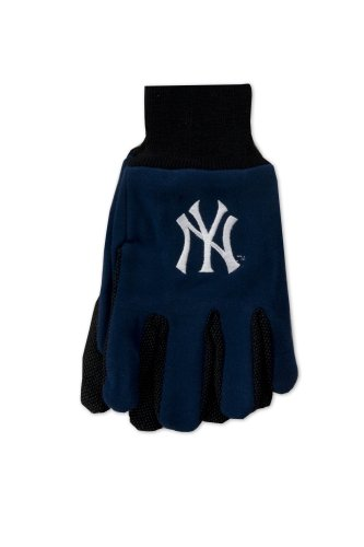 MLB New York Yankees Two-Tone Gloves, One Size (New York Yankee Gifts)