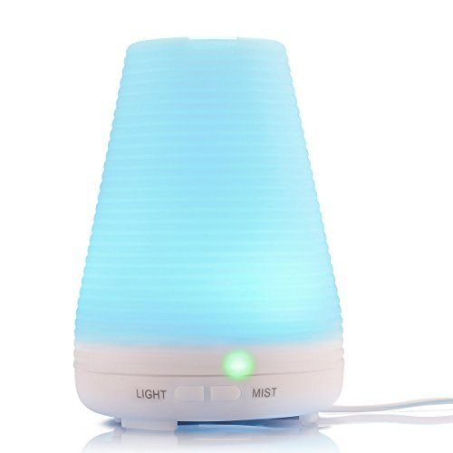 Essential Oil Diffuser ,Aromatherapy Diffuser Ultrasonic Cool Mist Humidifier Air Purifier Led Color Changing Lamp 100ml