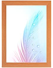 DR24 fotolijst 42x59 (Kersenboom) op maat gemaakt, 35 mm brede MDF-houten frame inclusief anti-reflecterende kunstglas ruit, stabiele achterwand, buigpennen en hangers