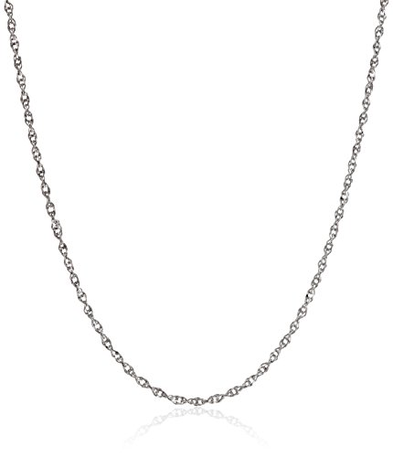 14k Necklace White Gold Chain (14k White Gold Solid Perfectina Chain Necklace (1.0mm), 18