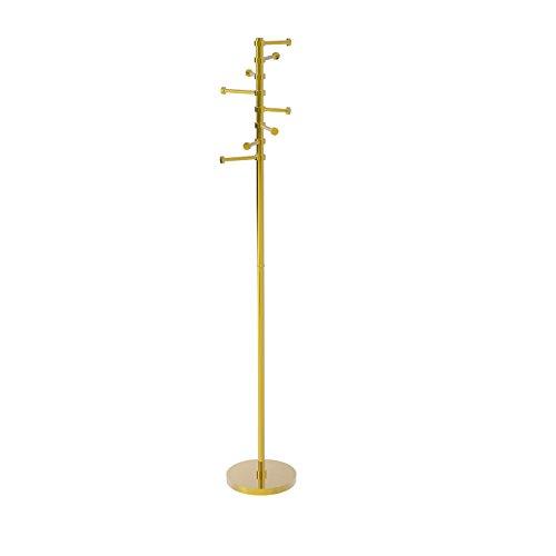 freestanding brass coat rack - 2