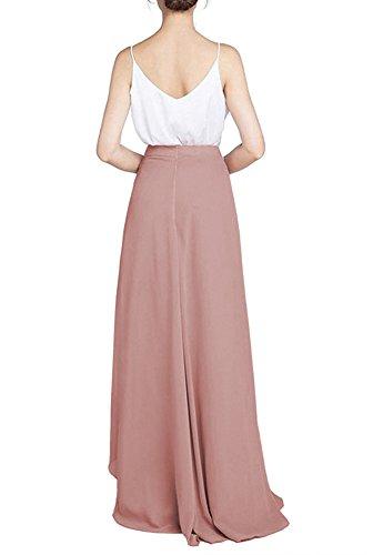 Soire de Jupe Mariage CoutureBridal Femme pour Maxi Plage Split Bleu Chiffon Haute Longue t Taille Elgante E4xvgqnw1