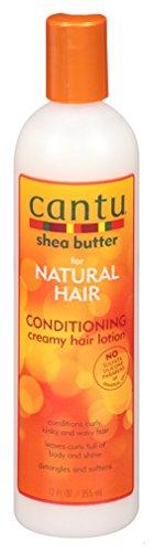 Cantu Natural Hair Condition Creamy Hair Lotion 12 Ounce (354ml) (2 Pack) (Best Hair Lotion For Natural Hair)