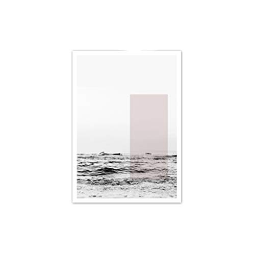 Dream-catching Pink Pineapple Rose Peony Reed Sea Quotes Wall Art Canvas Painting Nordic Posters and Prints Wall Pictures for Living Room Decor,A4 21X30cm No Framed,E ()