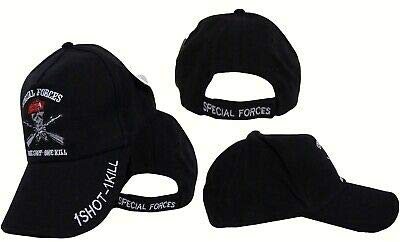 Special Forces One Shot One Kill Emboridered Cap Hat Ranger Airborne Green Beret (Airborne Beret)
