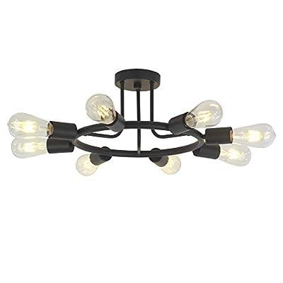 Sputnik Chandelier Lighting Modern Pendant Ceiling Light Fixture by BONLICHT