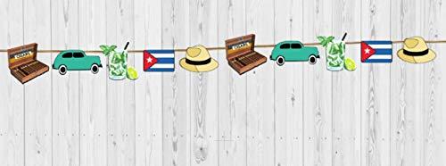 Havana Queen - 4 ft. Havana Nights Cuba Garland Handmade