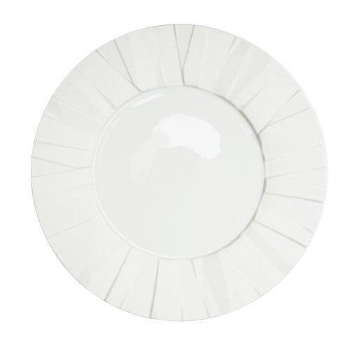 Matrix White Porcelain Dinner Plate (Matrix Plate)