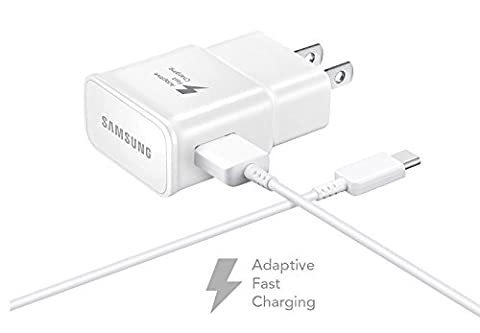 Verizon Samsung Galaxy S8+ Adaptive Fast Charger Type C Cable Kit! [1 Wall Charger + 4 FT Type C USB Cable] Adaptive Fast Charging uses dual voltages for up to 50% faster charging! - Bulk (Samsung Phone Charger Verizon)