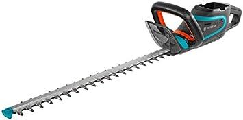 Tijeras cortasetos con batería PowerCut Li-40/60 de GARDENA: cortasetos con batería y cuchilla de 60cm de longitud, cuchilla protegida contra impactos, se entrega sin batería (9860-55)